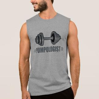 Camiseta Sem Manga Halterofilismo de bombeamento do ferro de