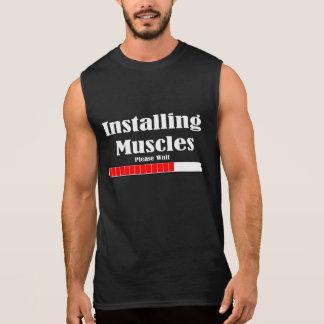 CAMISETA SEM MANGA INSTALLING MUSCLES