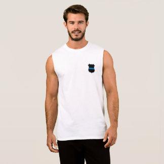Camiseta Sem Manga SUPER-HERÓI no T dos homens CIVIS do SALÁRIO