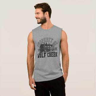 Camiseta Sem Manga Suporte de Wolf Creek - dos homens o algodão ultra