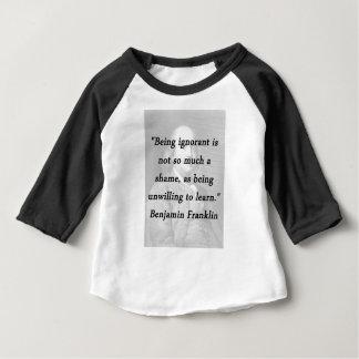 Camiseta Sendo ignorante - Benjamin Franklin