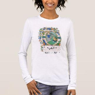 Camiseta Senhora 515 f.1r o esboço miraculoso dos peixes,