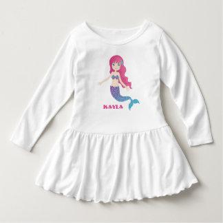 Camiseta Sereia Sparkly - turquesa cor-de-rosa