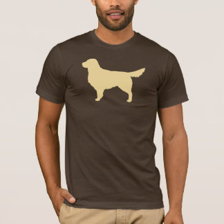 Camiseta Silhueta do golden retriever