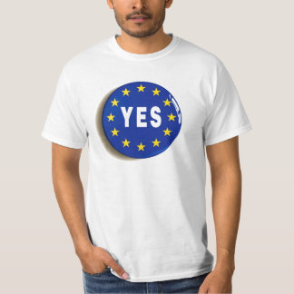 Camiseta Sim à UE - estada na União Europeia