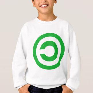 Camiseta Símbolo verde do dominio público de Anti-Copyright