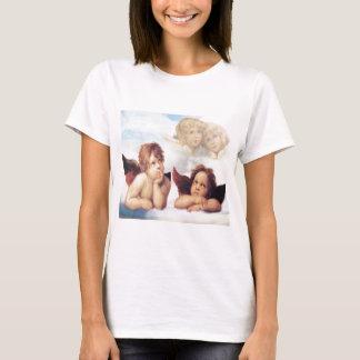 Camiseta Sistine Madonna 2 anjos por Raphael
