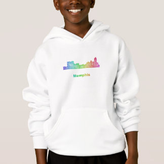 Camiseta Skyline de Memphis do arco-íris