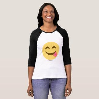 Camiseta Smiley Emoji com língua apetite Bom