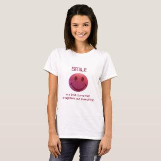 Camiseta Smiley face do batom