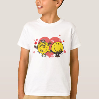 Camiseta Sr. Feliz & senhorita pequena Luz do sol Casamento