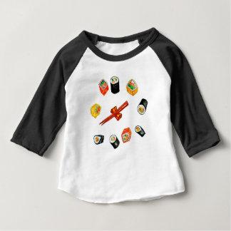 Camiseta Sushi Watercolor2 ajustado
