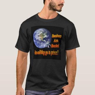 Camiseta T adulto rebentado banqueiros