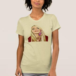 Camiseta T das conexões do telefone para fêmeas