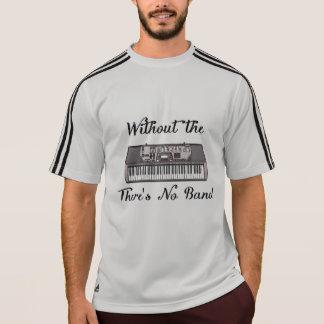 Camiseta T de Adidas ClimaLite dos homens do teclado