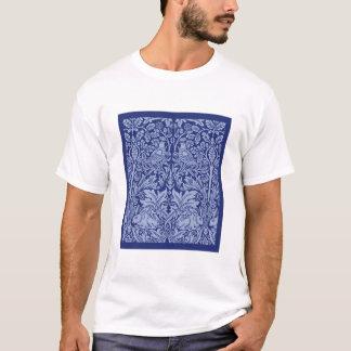 Camiseta T de chintz do coelho do olhar do vintage