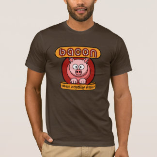 Camiseta T do bacon