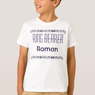 Camiseta T do casamento de praia do portador de anel do