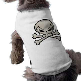 Camiseta T do crânio e do Doggy dos Crossbones