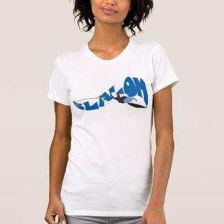 Camiseta T do esqui aquático do slalom