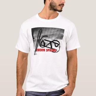 Camiseta T do gráfico do logotipo do primavera do espinho
