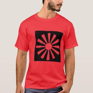 Camiseta T japonês de Sun de ascensão