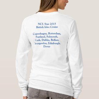 Camiseta T Longo-Sleeved cruzeiro da estrela 2015 das ilhas