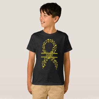 Camiseta T pediatra personalizado da fita da consciência do