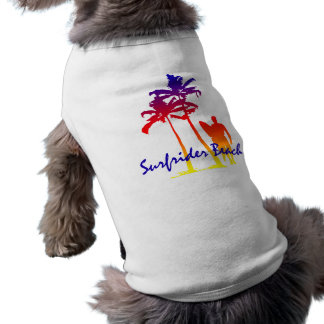 Camiseta T-shirt do cachorrinho da praia de Surfrider
