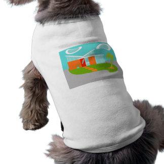 Camiseta T-shirt moderno do animal de estimação da casa dos