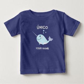"""Camiseta """"T-shirt original/do único"""" bebê com Narwhal"""