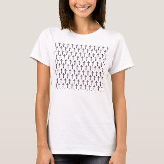 Camiseta T transversal do hipster