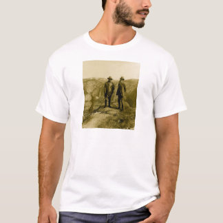 Camiseta Teddy Roosevelt e John Muir no ponto da geleira