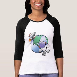 Camiseta Terra do astronauta e do planeta