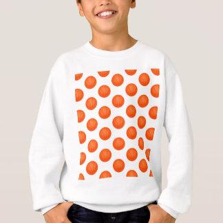 Camiseta Teste padrão alaranjado do basquetebol