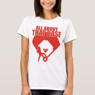 Camiseta Toda sobre esse baixo (design vermelho)