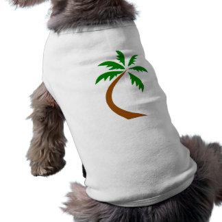 Camiseta torção curvada palmeira do coco