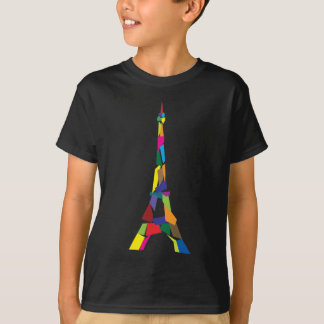 Camiseta Torre Eiffel abstrata, France, Paris