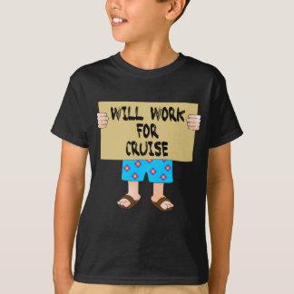 Camiseta Trabalhará para o cruzeiro