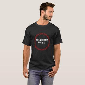 Camiseta Treinamento do peso e citações inspiradores da