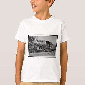 Camiseta Trem de estrada de ferro do motor de vapor do