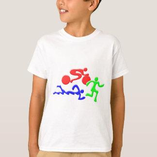 Camiseta TRI figuras design da COR do funcionamento da