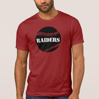 Camiseta Tshirt alternativo da cor do basebol do preto