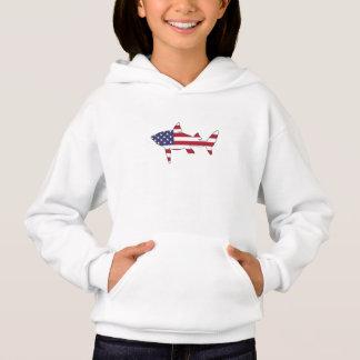 """Camiseta Tubarão """"bandeira americana """""""