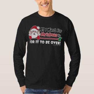 Camiseta Tudo que eu quero para o design engraçado do Natal