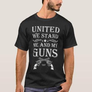 Camiseta Unido nós estamos me e minhas armas, ?a alteração