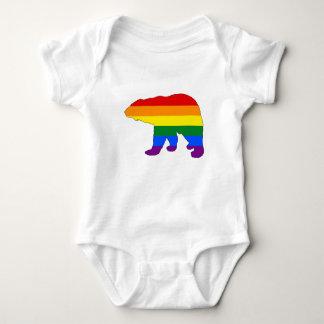 Camiseta Urso polar do arco-íris