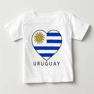 Camiseta Uruguai Heart black URUGUAI