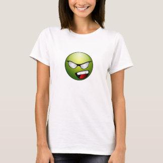 Camiseta verde do smiley face