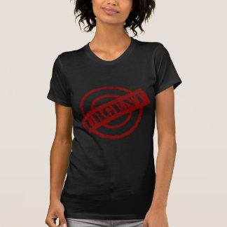 Camiseta vermelho urgente do selo